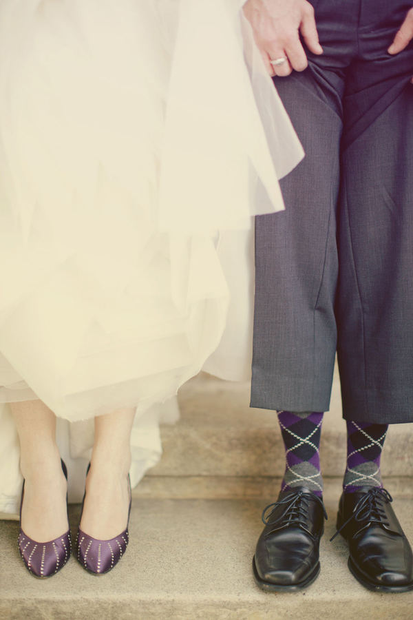 fun integrating a spectrum of different colors to their wedding themes
